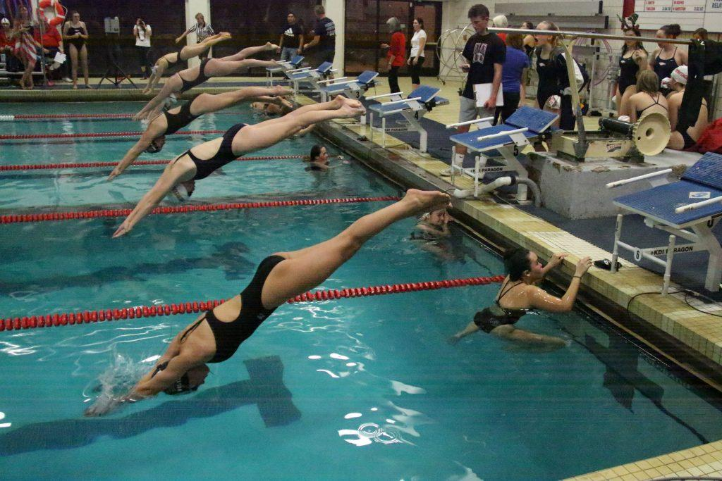 PHOTOS: JV and Varsity Girls Swim and Dive vs. Heritage