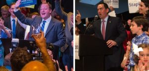 Photo of Jared Polis (right) by Evan Semón. Photo of Walker Stapleton (left) by Corey Hutchins.